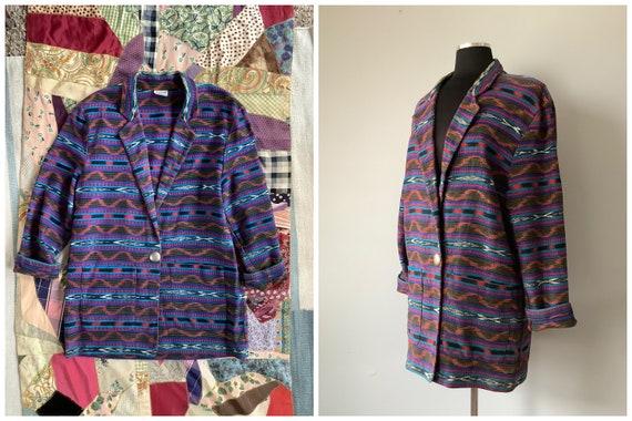 1980s Vintage Southwestern Oversized Blazer