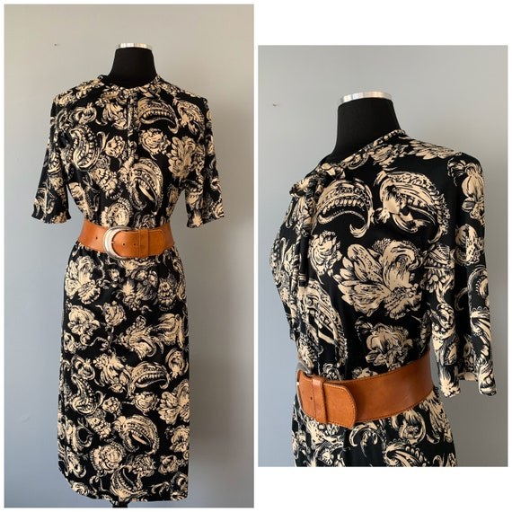 1960s Vintage Paisley Print Day Dress Plus | Volup