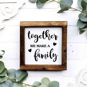Gift for Mom Family Quote Sign Jennifer/'s Craft Corner Sign With Name Family Prays Together Stays Together Tile Sign