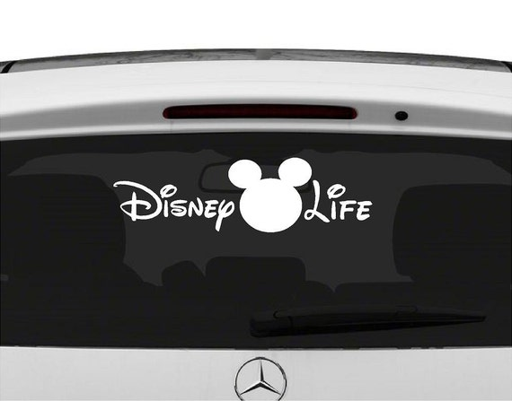 Vinyl disney life car decal disney life sticker car decal disney car decals