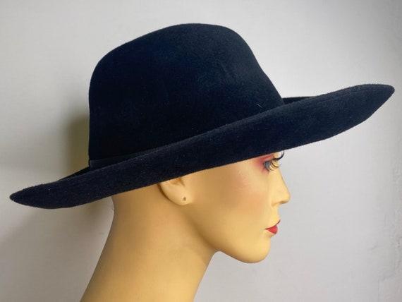 Vintage Black Galanos Gaucho Felt Hat