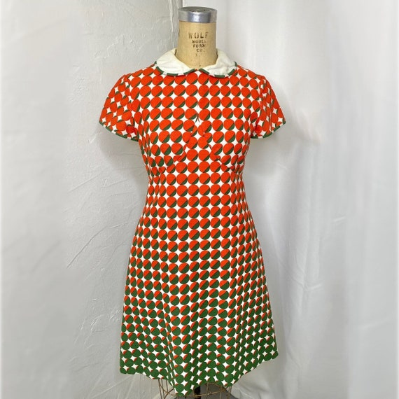 Vintage Bill Blass Mod Multicolor Dress