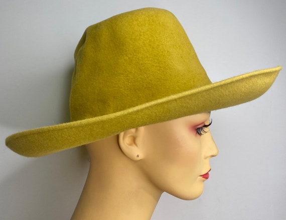 Vintage Rare Galanos Mustard Gaucho Hat
