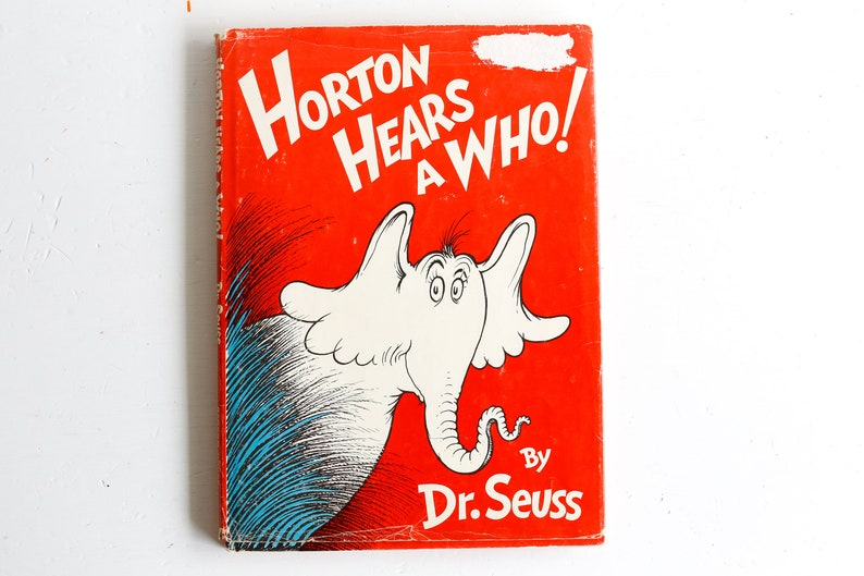 8ad95f6bb5dbb Horton Hears a Who Early 1954 Hardcover Edition with Dust
