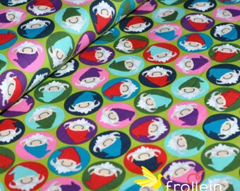 "Euro popelin cotton fabric with Peach Touch ""Carlitos Dwarves"" Oeko-Tex standard 100 by 1/2 yd"