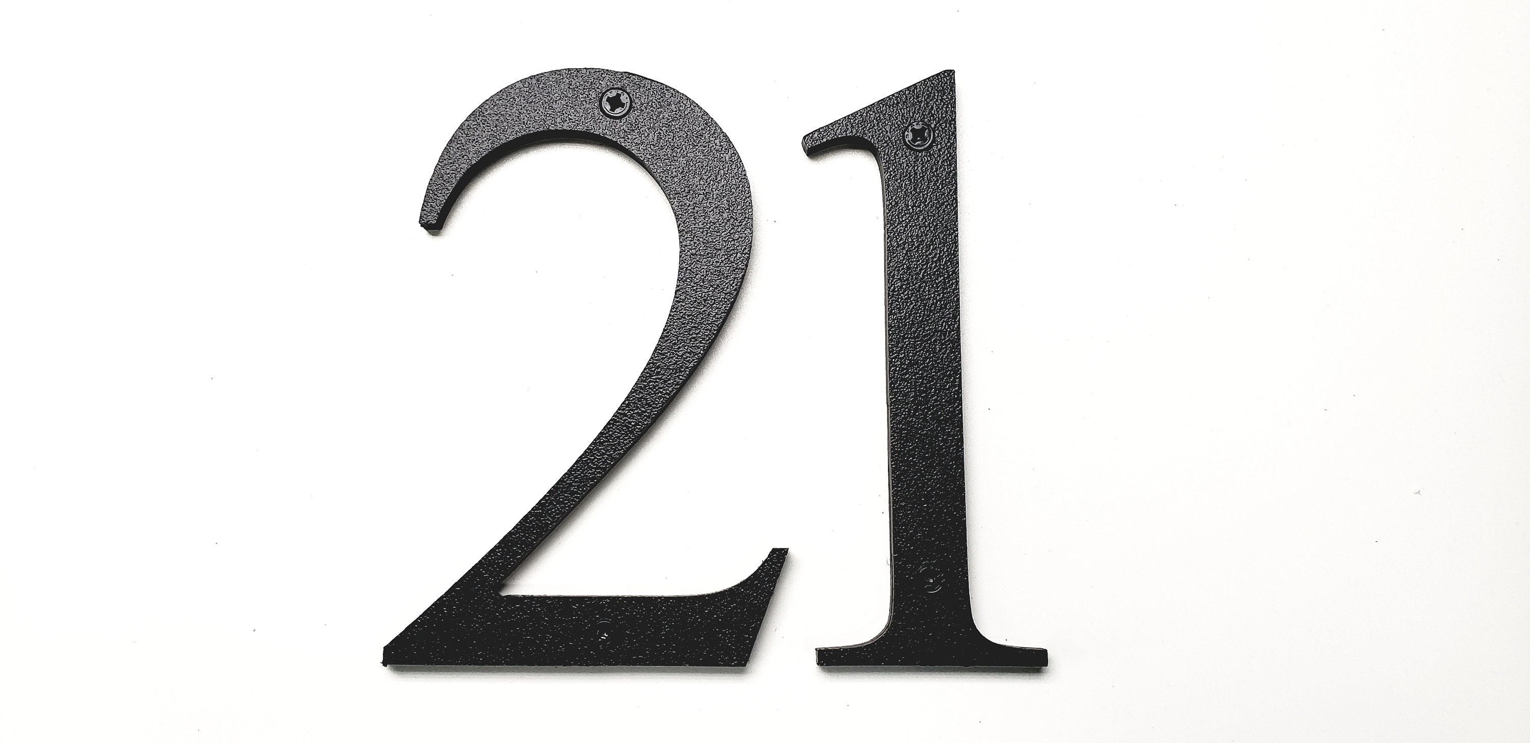 6\'\' Black Modern House Numbers Address Numbers Letters ...