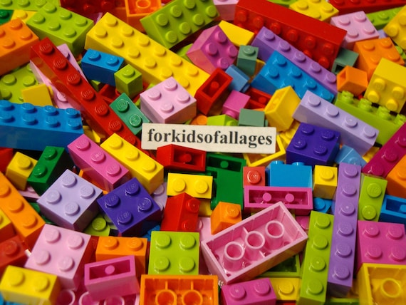 LEGO LOT OF 50 NEW 2 X 6 DOT BRIGHT PINK PLATES BUILDING BLOCKS PIECES
