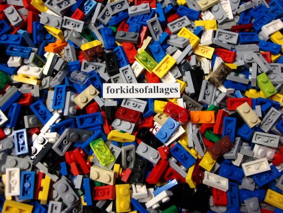 LEGO Lot of 10 Dark Blue 1x2 Plate Pieces with 1 Stud