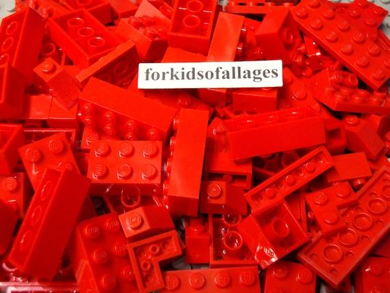 Brand New LEGO Bricks   2x4 x 50 pcs Red