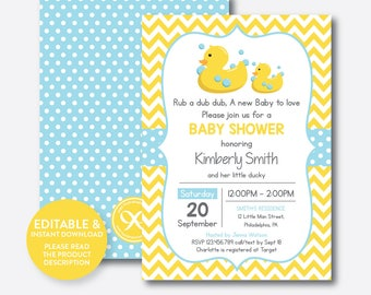 Duck baby shower Etsy