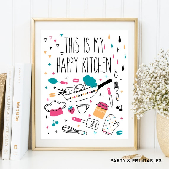 graphic relating to Printable Kitchen Art named Immediate Down load, This is My Joyful Kitchen area Printable Wall Artwork, Kitchen area Decor, Kitchen area Artwork, Kitchen area Print, Kitchen area Indicator, Estimate Artwork (WA.16)