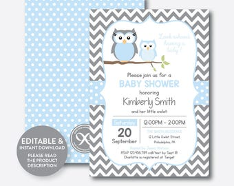 Owl baby shower invitation etsy best selling items favorite favorited add to added instant download editable owl baby shower invitation filmwisefo