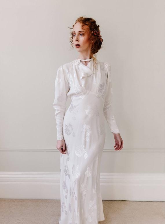 Vintage Hochzeitskleid. Art-Deco-Brautkleid. Hochzeitskleid.