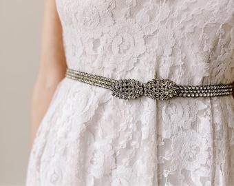 Beautiful Diamante Belt, Sparkly Art Deco Rhinestone Belt, Vintage Crystal Belt, Bridal Accessory, 1930s Wedding Belt. Stunning.