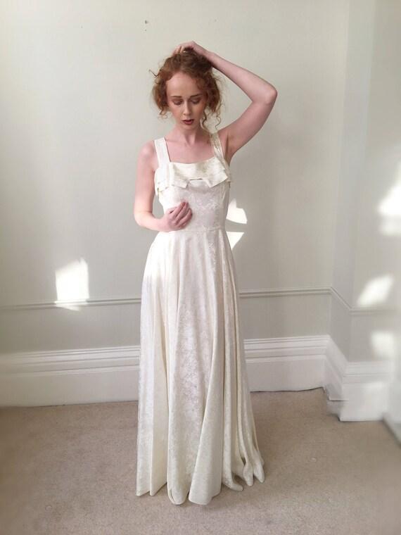 Vintage Wedding Dress. 1950s Wedding Dress. Ivory Bridal Gown   Etsy