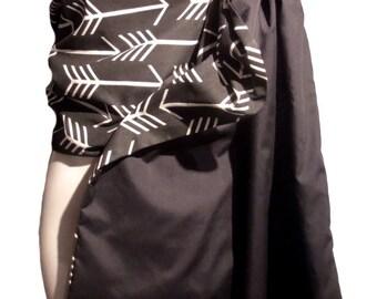 869bc199692d Sling à anneaux Blossom réversible en coton noir et flèches blanches pour porter  bébé, ring sling réversible, porte-bébé