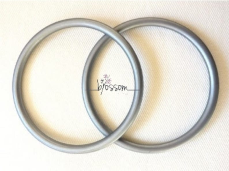 Aluminum Sling Rings Large Pair Of Silver Aluminum Sling Rings Ring Sling