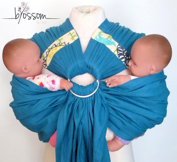 Twinsling C Blossomboxing Day Double Ring Sling Ring Etsy