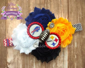 Custom House Divided Baby Headband, YOU CHOOSE TEAMS!, House Divided Baby Bow, House Divided Baby Girl Shirt, Football Baby Headband