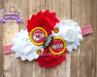 Kansas city royals personalized baby headband kc baseball kansas city chiefs personalized baby headband chiefs baby girl headband chiefs baby bow negle Image collections