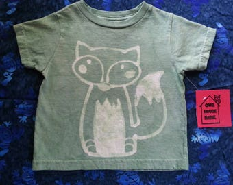 Batik Green 2T Fox Tshirt