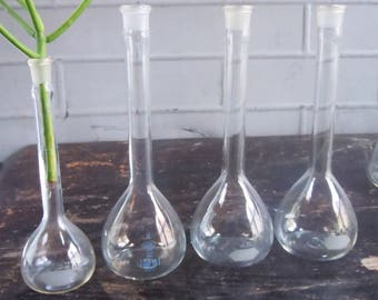 Science Glass / Small thin beakers / Pyrex Laboratory Glass / Great Scientific Decor and Style