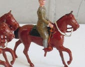 Antique Toy Soldiers Britains Ltd. 5 Soldiers on Horseback Vintage Toys from the 1940 39 s