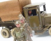 Vintage Britains Toy Soldiers Anti Aircraft Unit of the British Army 11 Pieces from a boxed set