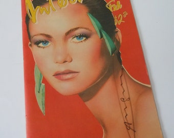 Andy Warhol's Signiture on Interview Magazine / Diane Lane Cover Feb 1981 Issue / Eighties Reasearch