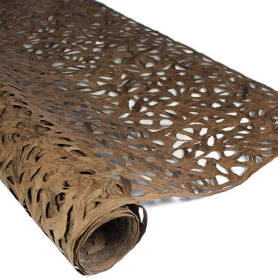 Weave 47 Inches by 95 Inches BUCKSKIN Amate Bark Paper from Mexico
