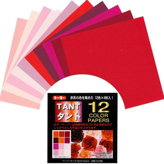 15 cm 12 colors 48 sheets by Toyo Tant Blues 6 in