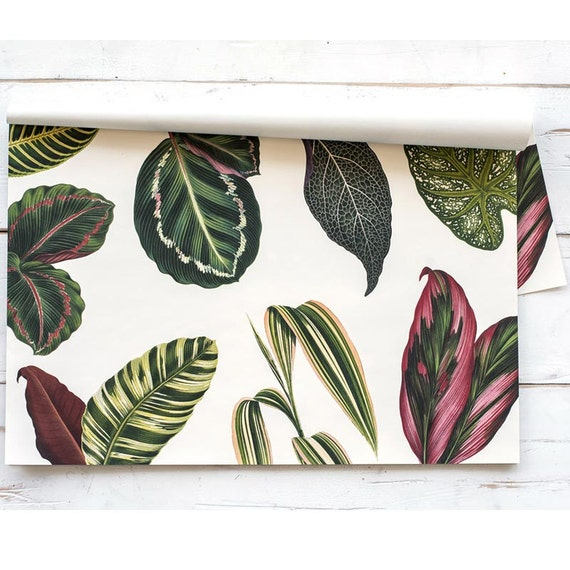 paper placemat pack tropical leaves pattern pack of 30 etsy