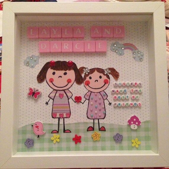 Beautiful Frame For Your Sister Or To Treat 2 Little Girls Etsy