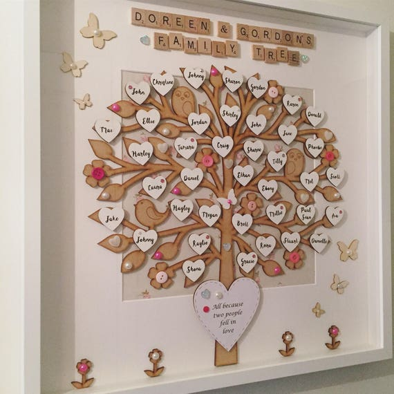 Large 20 Frame Wooden Family Tree Frame Fit Up To 50 Etsy