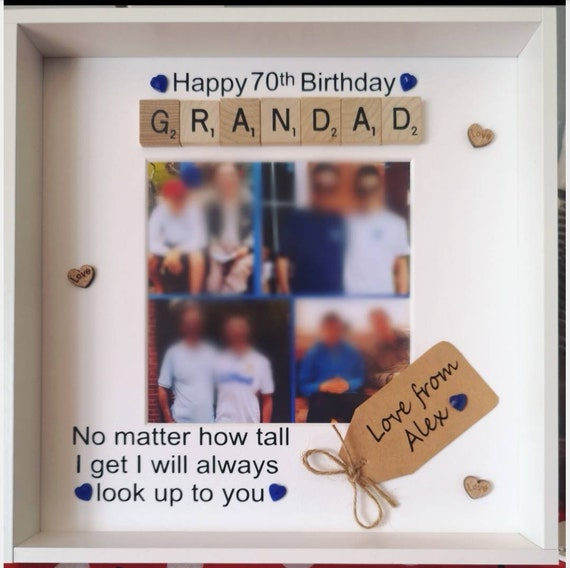 "Dad Scrabble Birthday 6/"" Card Personalised To My or To Our Grandad Mummy Daddy"