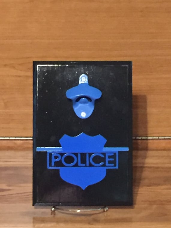 Bar Cap Catch Magnetic Graduation Thin Blue Line Fathers Day Bottle Opener Police Star Sheriff Man Cave Barware Wall Mount