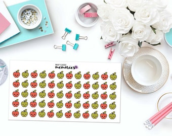 KAWAII APPLES Paper Planner Stickers!