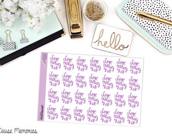 "MCM MANTRAS: ""Love outlives us all."" Paper Planner Stickers!"