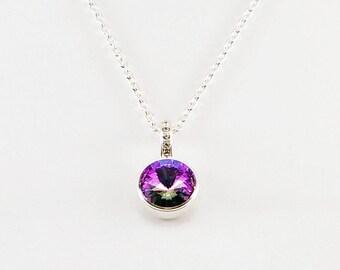 Rivoli Swarovski pendant, rivoli pendant, rivoli necklace, women rivoli pendant, women pendant, women rivoli necklace, women necklace