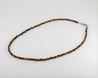 Natural  tigereye mens necklace,mens necklace, men jewelry, tigereye necklace, unisex necklace, men gift,