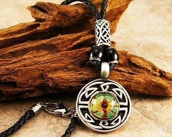Mens necklace, mens necklace pendant, men dragon eye pendant , mens celtic necklace, mens pendant, mens jewelry, mens git idea, bijoux