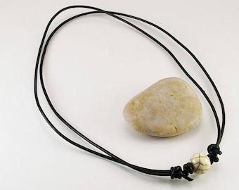 Bone necklace with bone beads, men necklace, men jewelry, jewelry,  necklace, men, men gift idea, bone