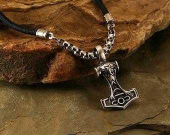 Thor Hammer men necklace, medieval pendant, men necklace, men pendant, men jewelry, medieval jewelry, hammer, men gift idea