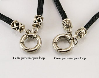 Men medieval necklace with open loop, men necklace, men pendant, medieval necklace, medieval pendant, men gift idea