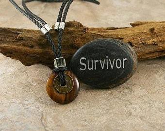 Tigereye  pendant, mens necklace, mens pendant, mens jewelry, men gift idea, tigereye, gemstone necklace