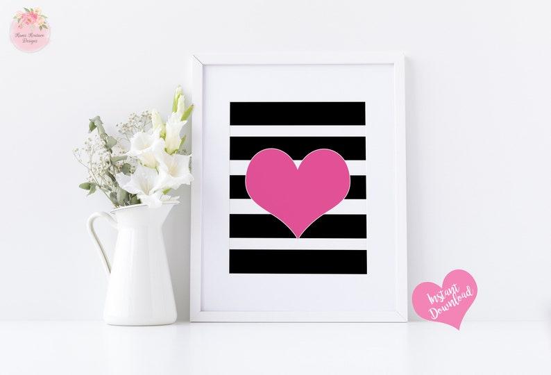 0512b9f46 Pink and black kate spade wall art girly wall art glam | Etsy