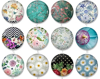 12mm photo glass cabochon Floral - 8mm 10mm 12mm 14mm 15mm 16mm 18mm 20mm 22mm 25mm 30mm 35mm 40mm  Handmade photo glass Cabochons - xy1232