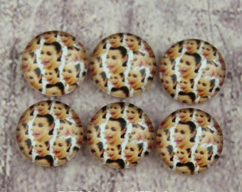 10pcs 12mm Handmade Photo Glass Cabochon - and can do 10mm 14mm 15mm 16mm 18mm 20mm 25mm 30mm Glass Cabs Cabochons-505X7