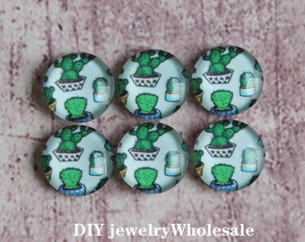 10pcs 12mm Handmade Photo Glass Cabochon - and can do 10mm 14mm 15mm 16mm 18mm 205mm 30mm Glass Cabs Caboch ons-504X3