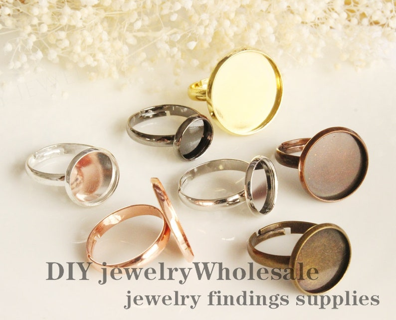 10 Pieces Brass Ring Wholesale Ring Blanks Empty Jewelry Making Findings
